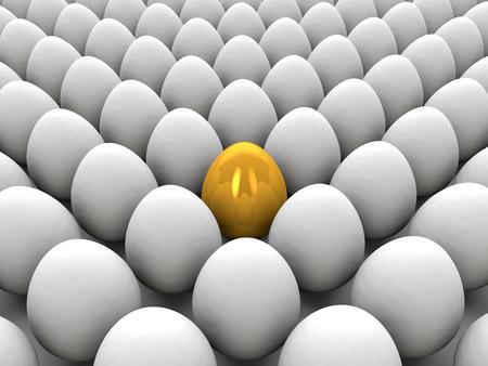 opportunity concept: Golden egg Stock Photo