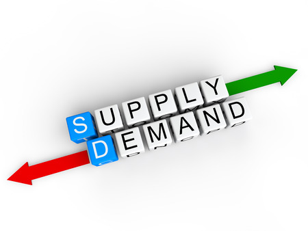 in demand: Supply and Demand Stock Photo