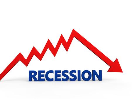 Recession concept Banque d'images
