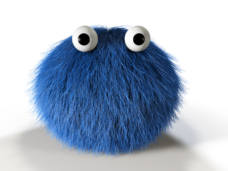 furry: Cute blue furry monster