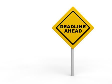 Deadline vooruit waarschuwing ondertekenen
