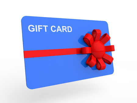 3d gift card with ribbon