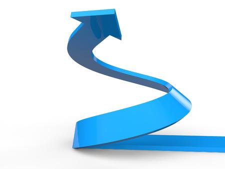 3D geef van de stijgende spiraal pijl