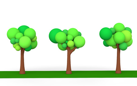 3d: 3d trees Stock Photo