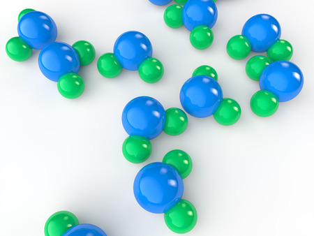 water molecule: Modelos de mol�culas de agua 3d Foto de archivo