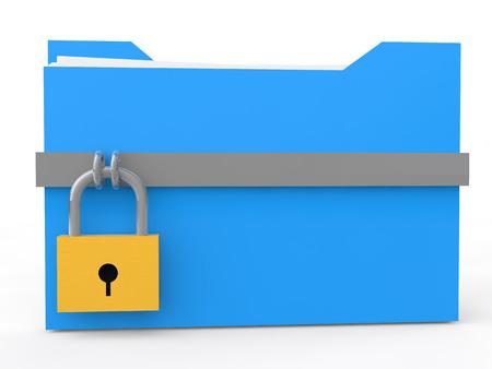 folder lock: 3d file folder with lock