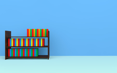 book racks: Books on a bookshelf