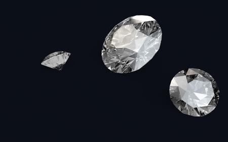 render: 3D render of diamonds
