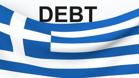 financial crisis: Greece debit crisis concept