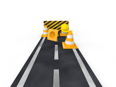 blockade: 3d road with closed end