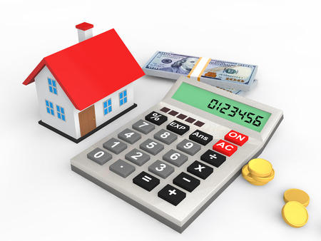 3D-Haus-Budget-Konzept Standard-Bild