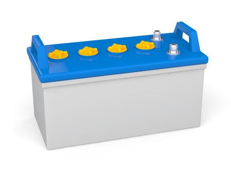 �cido: Bater�a de plomo 3d