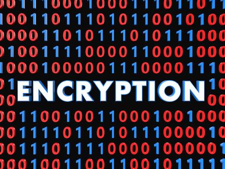 encryption: 3d data encryption concept Stock Photo