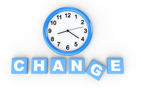 change concept: 3d time for change concept Stock Photo
