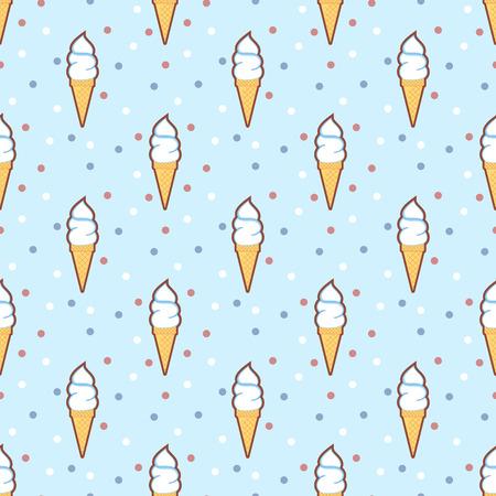 cool backgrounds: Retro Ice cream cones pattern
