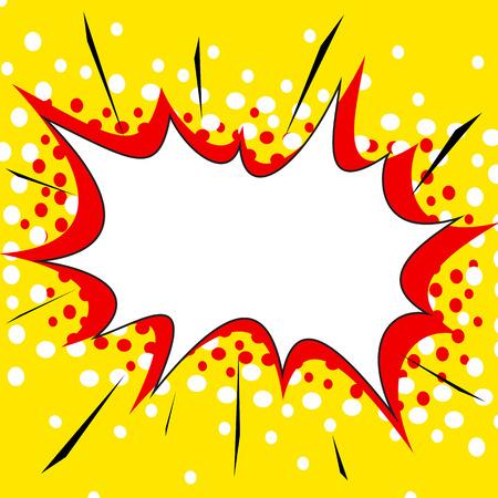 Gele komische stijl explosie