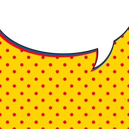 fondo: Comic burbuja charla sobre amarillo