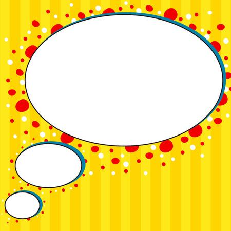 talk bubble: Comic style yellow talk bubble Stock Photo