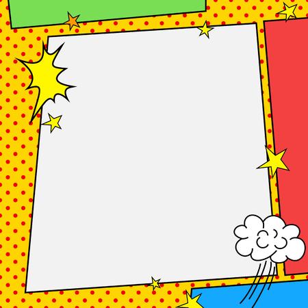 Comic book-stijl beeld Stockfoto