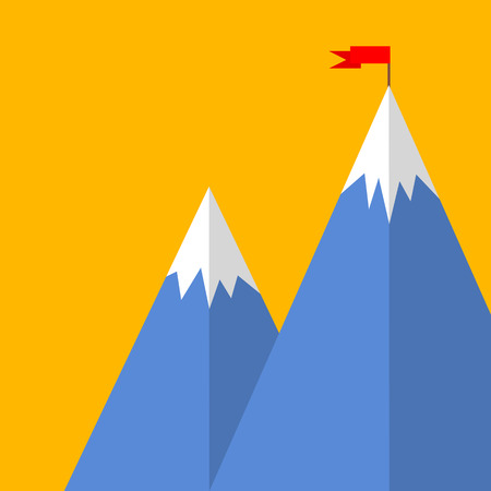success concept: Flat style mountain success concept