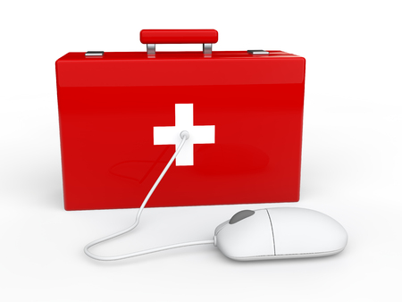 3d mouse: 3d first aid box and computer mouse