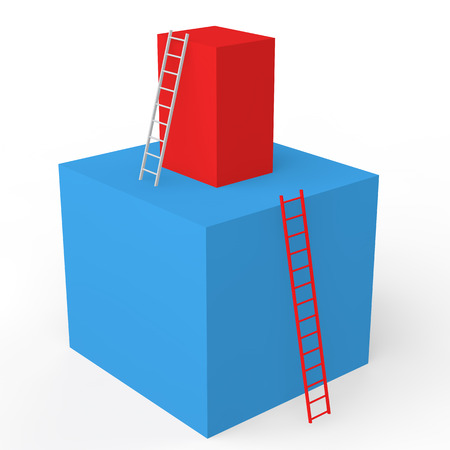 ladders: 3d cubes with ladders