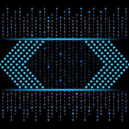 binary data: Blue binary data futuristic design