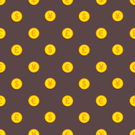 golden coins: Golden coins pattern Stock Photo