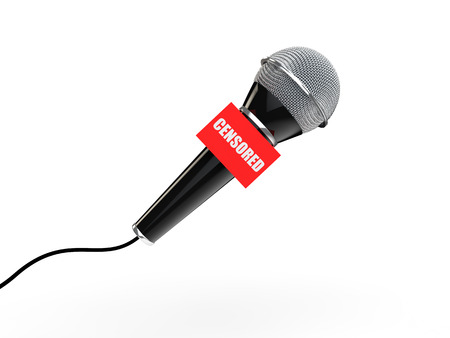 censored: 3d microphone censored concept