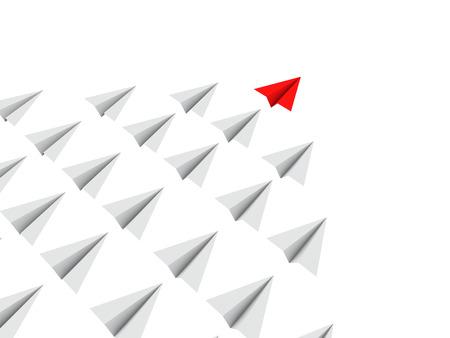 lider: aviones de papel 3d con el líder
