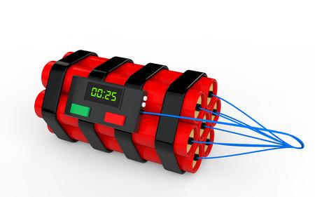 dinamita: 3d dinamita bomba de tiempo