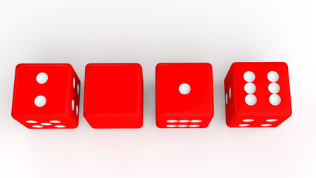 dices: 3d dices to show year 2016 Stock Photo