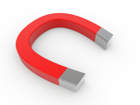 horseshoe magnet: 3d horseshoe magnet