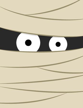 eye bandage: Mummy poster illustration