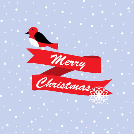 robin bird: Cute robin bird Christmas design