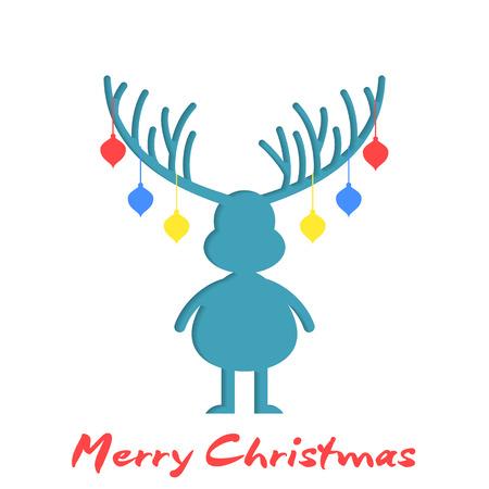 renna: disegno Reindeer silhouette di Natale Archivio Fotografico
