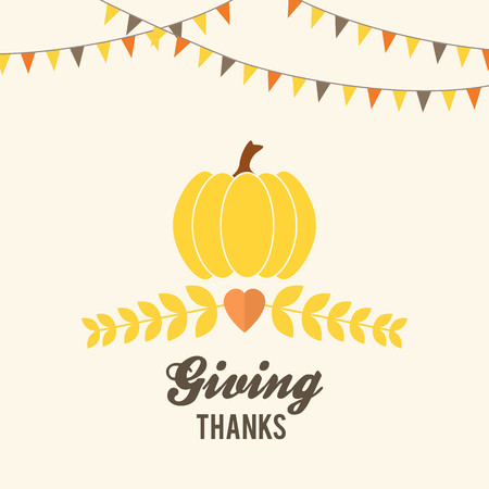 thanksgiving: Thanksgiving design with buntings