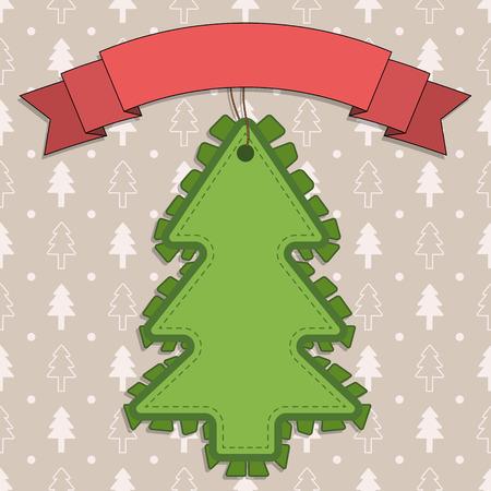 retro christmas: Retro style Christmas illustration