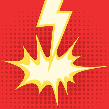 lightning strike: Comic style lightning bolt strike Stock Photo