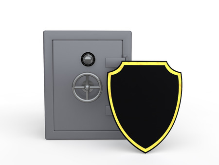 strong box: 3d metal safe and shield