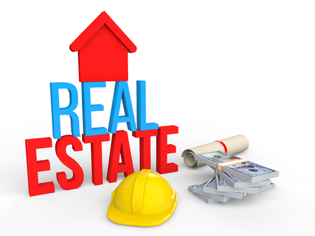 estate: 3d real estate concept