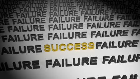 failures: Success in failures Stock Photo