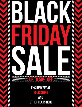retail: Black Friday sale banner Stock Photo