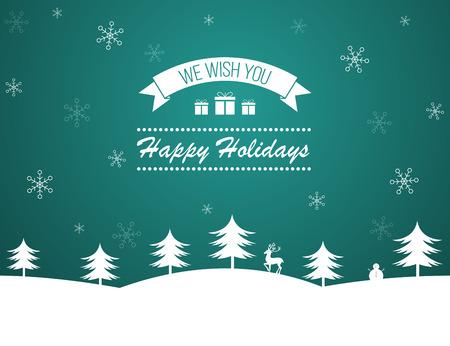Winter holidays background design