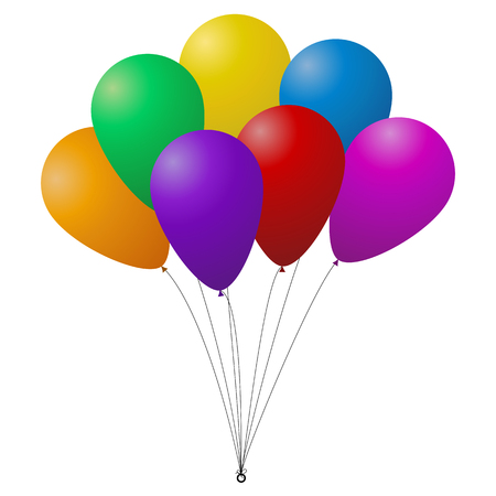 bunch: Bunch of colorful balloons