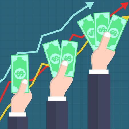 increasing: Increasing profit concept