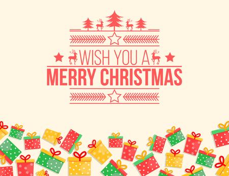 retro christmas: Retro color Christmas card