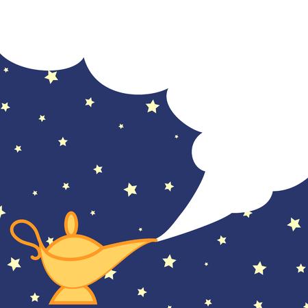 lampara magica: lámpara mágica y la nube Foto de archivo