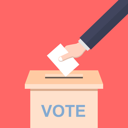 casting: Hand casting a vote
