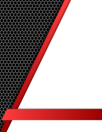 black and silver: Metal mesh and red lines background